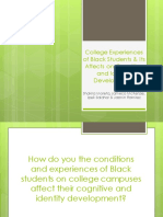 college experiences of black students   its affects on cognitive and identity development