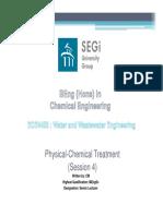 ECE4453 Physical Chemical Treatment I Week 4