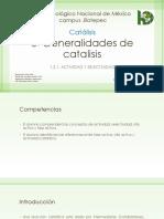 Generalidades de Catalisis 1
