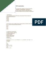 Modelo de Examen 2013 Matematica