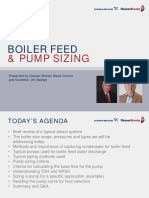 Boiler Feed and Pump Sizing - C-B and Grundfos July 2016