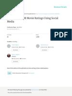 Predicting IMDB Movie Ratings Using Social Media