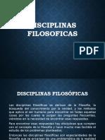 DICIPLINAS FILOSOFICAS.txt