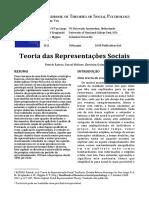 Artigo - Teoria Das Representações Sociais