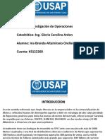 Proyecto Investigación de Operaciones Ina Altamirano