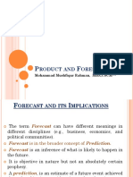 Product and Forecasting