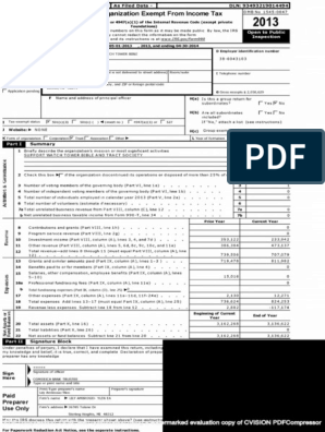 Watchtower Stock Investments | Irs Tax Forms | 501(C