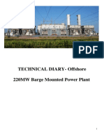 220 MW Barge Technical Diary Short