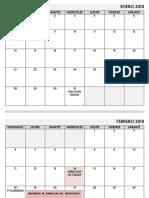 CALENDARIO 2018 - 2020