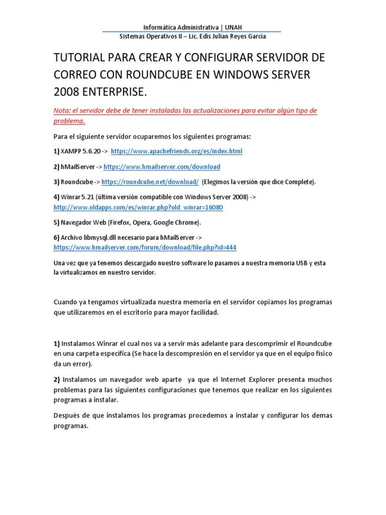 Tutorial Para Crear y Configurar Servidor de Correo en Windows