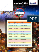 Holiday Calender All