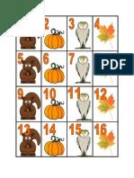 October Calendar Pieces