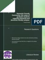 Presentation in Dementia Friendly Community