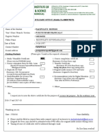 REQUEST FORM and No Due Certificate