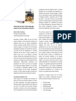 What does the title Project Manager means to the Construction Industry.pdf