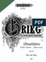 Grieg 4 Album Leaves Op.28 ArrHSitt Vlnpiano