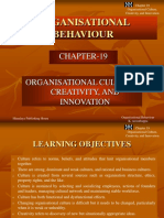 Organisation Culture, Creativity and Innovations