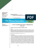 Review Antibacteri Alkaloid