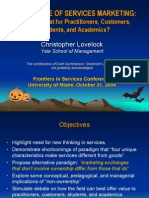 Frontiers Future of Services Marketing