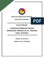Kertas Kerja Dewan Serbaguna Sktg2017