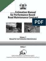 Cost Estimation Manual Volume 1 PBC