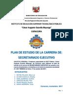 Plan de Estudios de Secretariado Ejecutivo