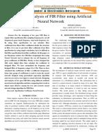 Paper_Design and Analysis of FIR Filter Using Artificial Neural Network_2015