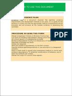 Evidence Plan