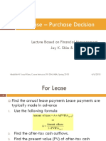 The Lease – Purchase Decision