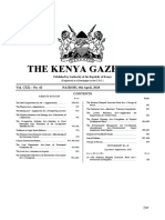 The Kenya Gazette Vol. 42 6th April 2018