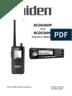 Uniden BCD536HP Scanner User Manual