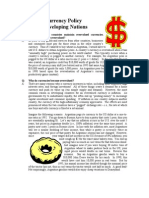 Currency Policy Over Valuation