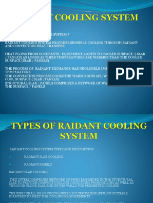 Radiant Panels Air Conditioning Heating Ventilating And Air Conditioning