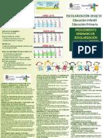 Triptico Ordinario 18 19 Infantil y Primaria