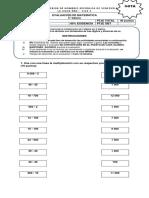 PRUEBA Multiplicación y División