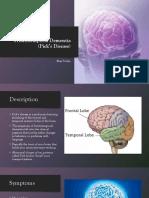 frontotemporal dementia  max totzke