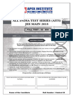 Jee-mains Test Paper - 05
