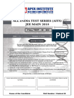 Jee-mains Test Paper - 02