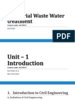 Industrial Waste Water Treatment - Unit 1