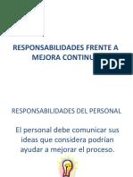 9. Responsabilidades Frente a Mejora Continua