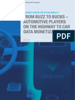From Buzz to Bucks Automotive Players on the Highway to Car Data Monetization
