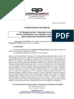 Les restrictions de circulation pour le Marathon de Paris du 8 Avril 2018