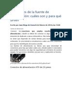 Conectores de Fuentes ATX