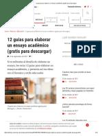 12 Guías Para Elaborar Un Ensayo Académico (Gratis Para Descargar)