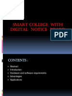 Smart College With Digital Notice Board