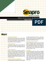 Tabela SINAPRO 2009