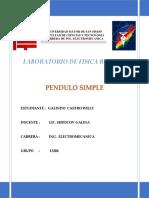 Pendulo Simple 2018