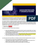 Vasoconstricción y Vasodilatación