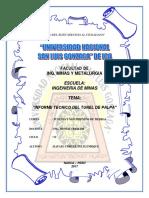 Informe Tecnicio Del Tunel de Palpa