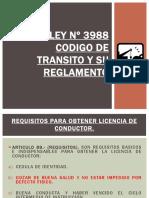 LEY Nº 3988 CODIGO DE TRANSITO Y SUS REGLAMENTOS.pptx